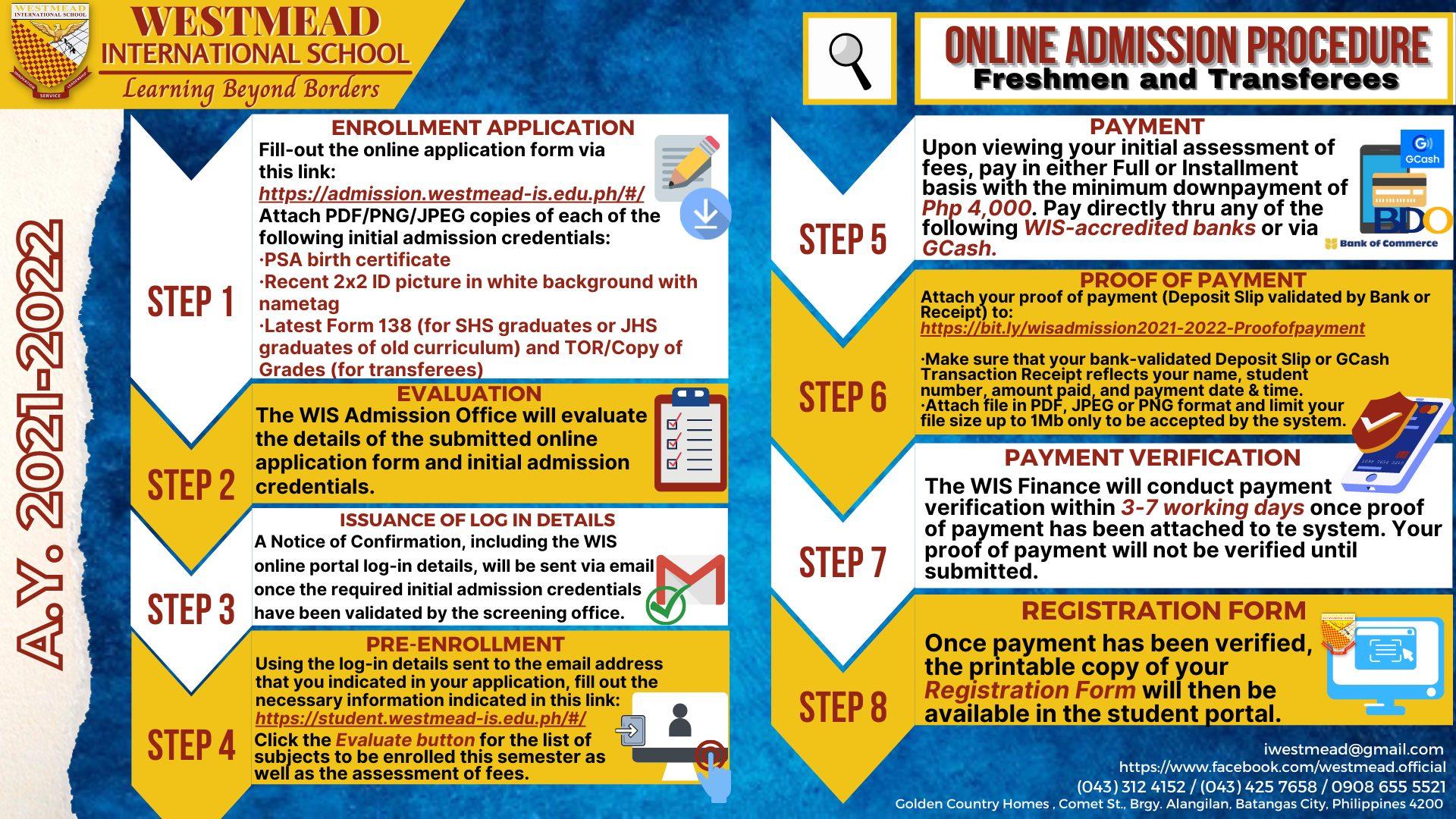 WIS Admission Procedure