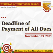 Deadline of Payment of All Dues.